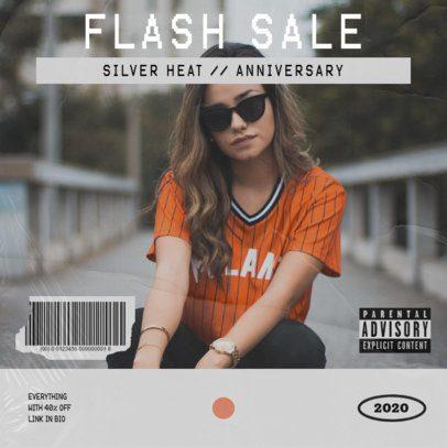 Instagram Post Template for a Streetwear Flash Sale 967b-el1