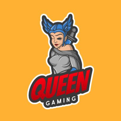 Logo Template Featuring a One-Eyed Queen Graphic 1077c-el1