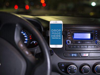iPhone Mockup in Portrait Position in a Car Holder 12789standar