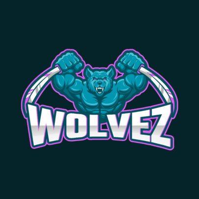 Cool Gaming Logo Maker Featuring a Lycanthrope Illustration 1092c-el1
