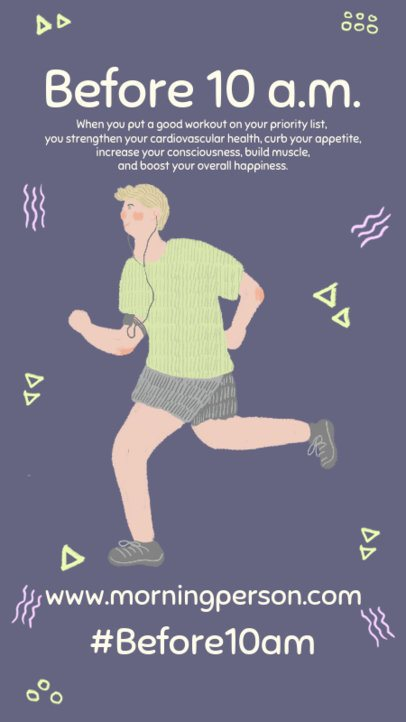 Instagram Story Creator Featuring an Illustration of a Man Jogging 984b-el1
