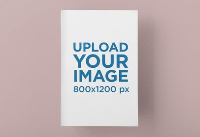 Mockup of a Hardcover Book Featuring a Customizable Background 33646