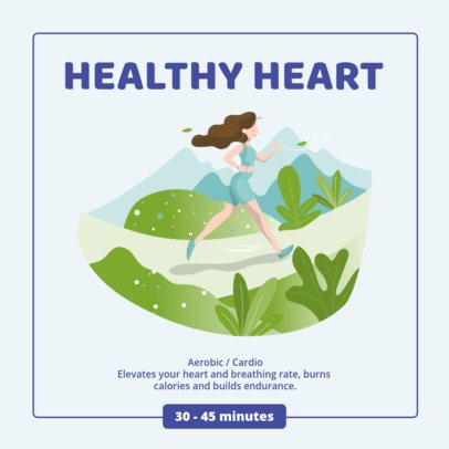 Instagram Post Maker Featuring Healthy Activity Tips 1012-el1