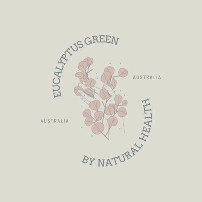 Elegant Logo Maker Featuring an Illustration with Eucalyptus Leaves 3192e