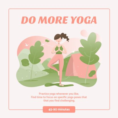 Illustrated Instagram Post Template Featuring Tips for Yogis 1012a-el1