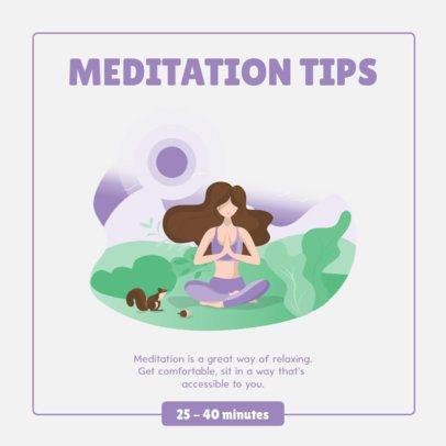 Instagram Post Creator with Illustrations and Meditation Tips 1012b-el1