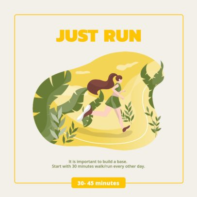 Instagram Post Maker Featuring an Illustration of a Woman Running 1012c-el1