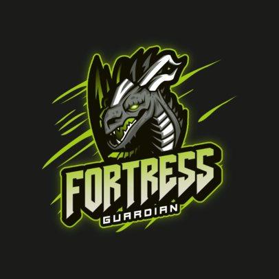 Gaming Logo Generator Featuring a Dragon Head Illustration 3185a