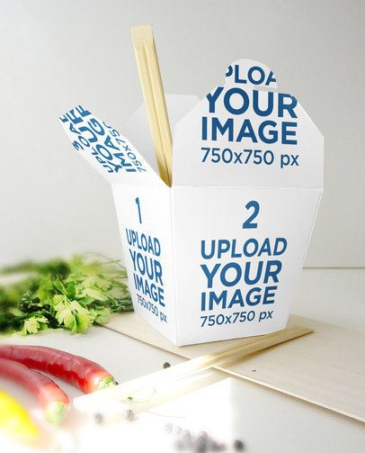 Food Packaging Mockup Featuring a Noodle Box 3999-el1
