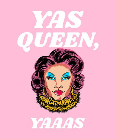 T-Shirt Design Maker Featuring Drag Queen Illustrations 2480