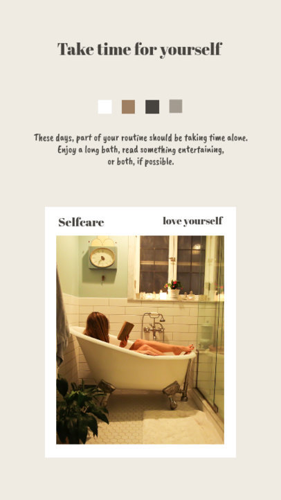 Instagram Story Template Featuring Self-care Activity Tips 1151-el1