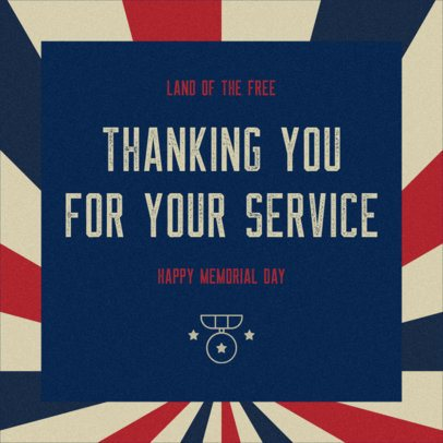 Facebook Post Generator with a Patriotic Style to Celebrate Memorial Day 2486d
