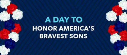 Facebook Cover Creator for Memorial Day Featuring Flower Graphics 2487f
