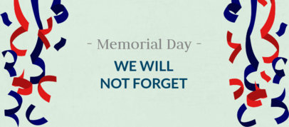 Memorial Day-Themed Facebook Cover Maker with Paper Coil Graphics 2487h