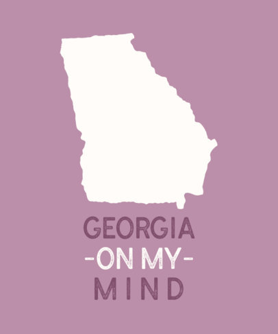 Patriotic T-Shirt Design Generator with The State of Georgia Graphic 1220d-el1