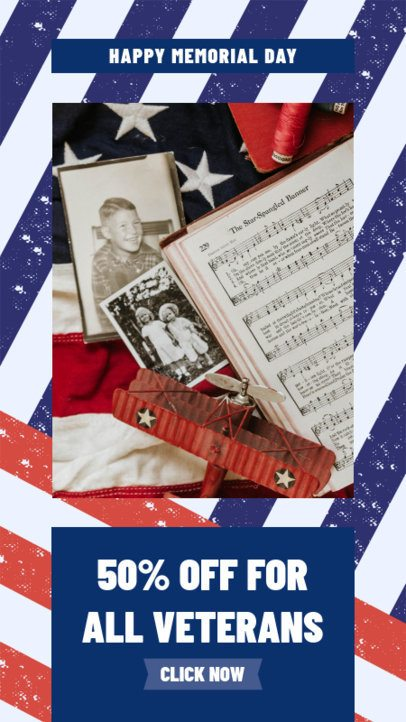 Instagram Story Template for a Memorial Day Offer 2483d