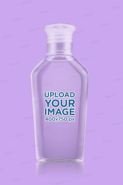 Minimalist Mockup of a Clear Hand Sanitizer Bottle 3984-el1