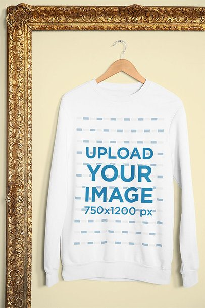 Mockup of a Sweatshirt Featuring a Golden Frame 33998