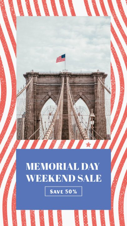Memorial Day-Themed Instagram Story Design Maker for a Weekend Sale 2483f
