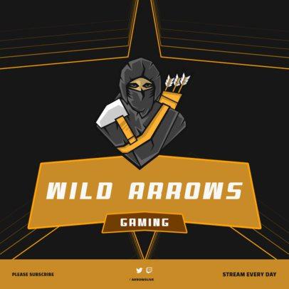 Instagram Post Creator with a Gaming Ninja with Arrows 1114c-el1