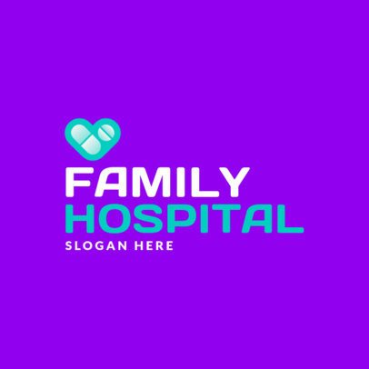 Hospital Logo Template with a Heart Graphic 3212c