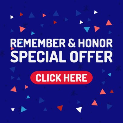 Memorial Day-Themed Banner Design Maker for a Special Offer 2488c