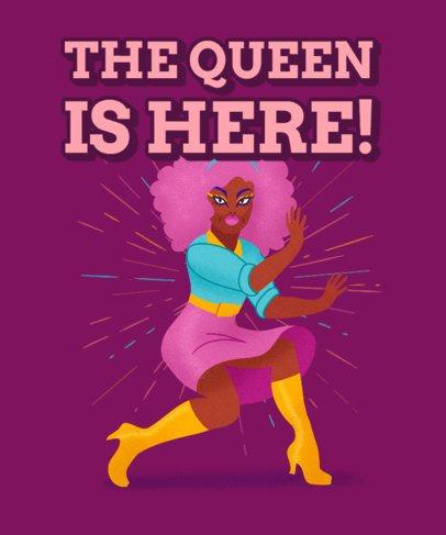 T-Shirt Design Creator Featuring a Drag Queen in a Striking Pose 2482b