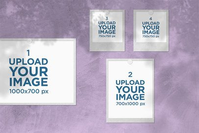 Mood Board Mockup Featuring Instant Pictures 3876-el1