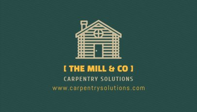 Carpentry Company Business Card Maker 491c