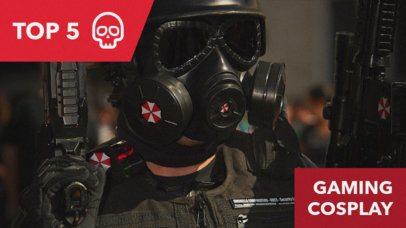 Gaming Cosplay YouTube Thumbnail Maker 885b