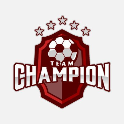 Sports Logo Maker for a Soccer Championship 1298d-el1