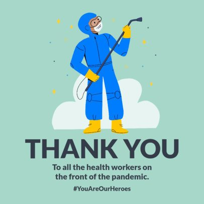 Instagram Post Maker to Thank Physicians Fighting Against Coronavirus 2503