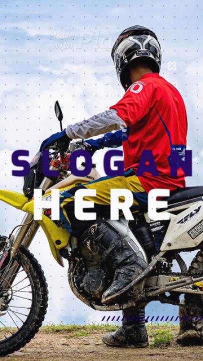 Motocross-Themed Instagram Story Video Generator 1548-el1