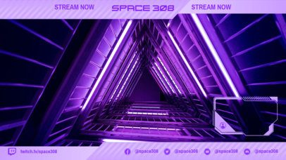 Futuristic Twitch Overlay Generator for a Space-Themed Gaming Channel 2511r