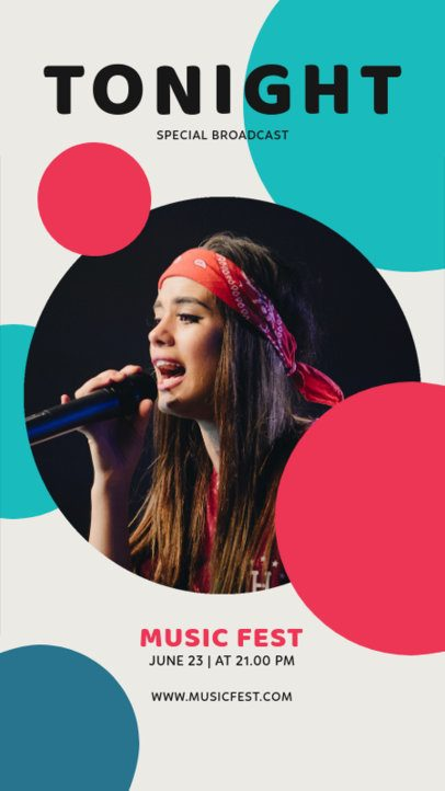Colorful Instagram Story Design Template to Announce a Music Event 1226-el1