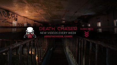 YouTube Banner Template Featuring a Masked Skull Icon Inspired by PUBG 2509a