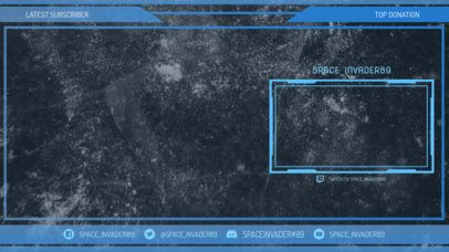 Stream Overlay Template for OBS with a Minimal Futuristic Style 2513h