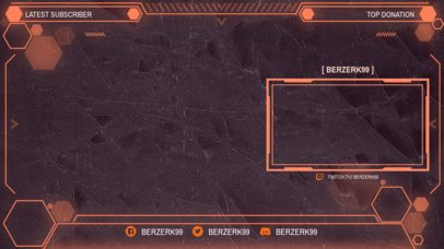 OBS Stream Overlay Creator Featuring an Exagon Design Pattern 2513j