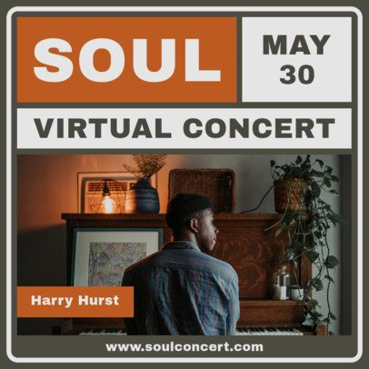 Instagram Post Design Template for live Music Concerts from Home 1242-el1