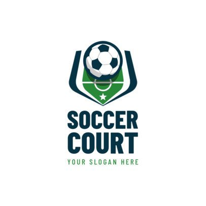 Sports Logo Creator Featuring a Ball in a Soccer Court 1297C-el1