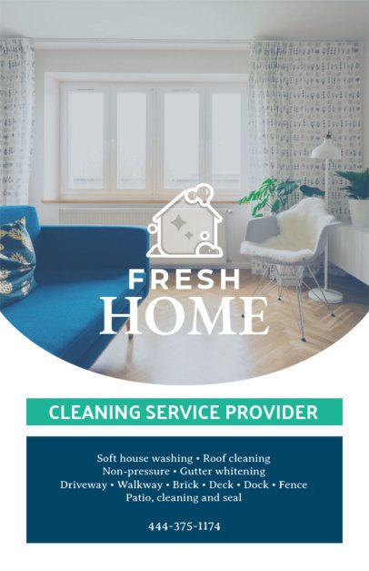 Flyer Design Template for a House Cleaning Service Provider 271d
