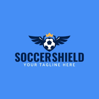 Sports Logo Generator Featuring a Winged Soccer Ball 1297H-el1