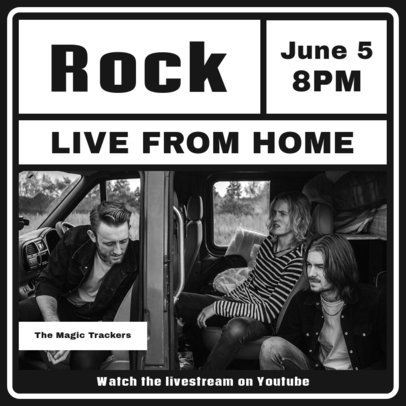 Instagram Post Creator for a Rock Concert from Home 1242b-el1