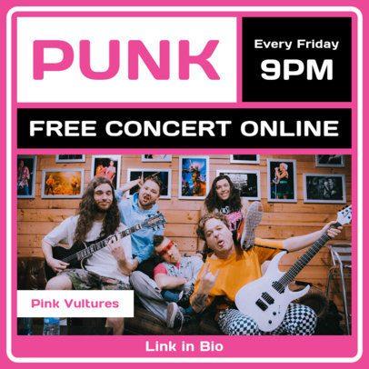 Instagram Post Design Generator for a Free Punk Concert Online 1242c-el1