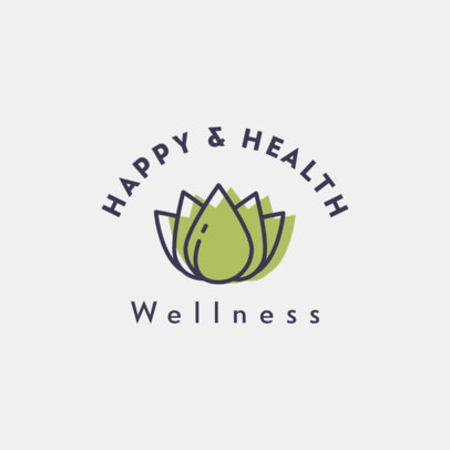 Wellness Logo Creator Featuring Simple Graphics 1310-el1