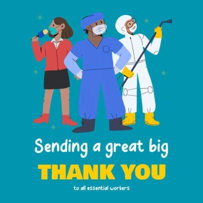 Instagram Post Design Creator to Thank Essential Workers During Quarantine 2503c
