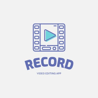 Logo Template for a Video Editing App 1309b-el1