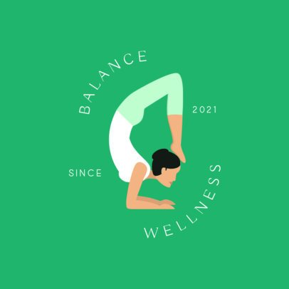 Wellness Logo Generator Featuring a Stretching Woman Icon 1302c-el1