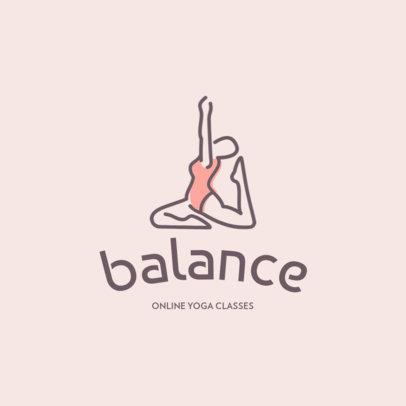 Logo Maker For Online Yoga Lessons 1309d-el1