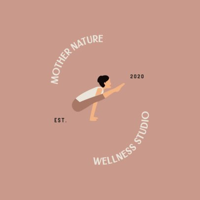 Wellness Studio Logo Creator with a Woman in a Stretching Pose 1302g-el1